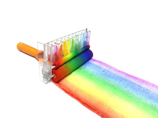 Rainbow Roller: A DIY Paint Roller That Paints Rainbows