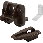 Prime-Line Brown Plastic Drawer Track Guide Kit R 7321