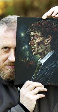 peter howson, official war artist in bosnia and internationally reknown artist has painted portaits of Gary McKinnon