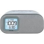 Ihome iBT210WS Bluetooth Dual Alarm FM Clock Radio with Speakerphone and USB Charging - White