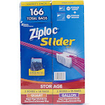 Ziploc Slider Storage Bags 166ct Variety Pack: Quart (96