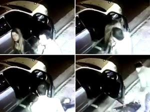 Mulher estava na frente do clube quando foi agredida por cotovelada em agosto de 2014 (Foto: Reprodução/TV TEM)