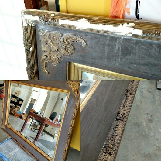Final was significantly water damaged and was brought toly completed repairs and restoration to this antique gilded gesso on wood mirror frame.  On… | Pinterest