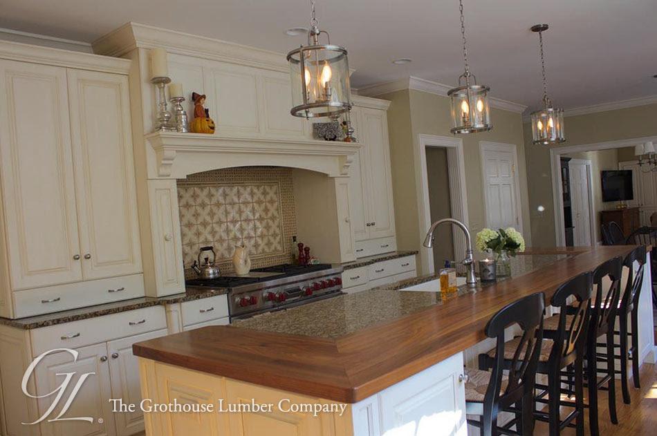 Walnut Wood Kitchen Countertop in Cincinnati Ohio