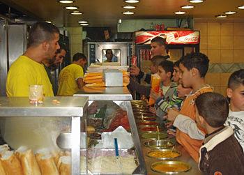Falafel restaurant in Nazareth