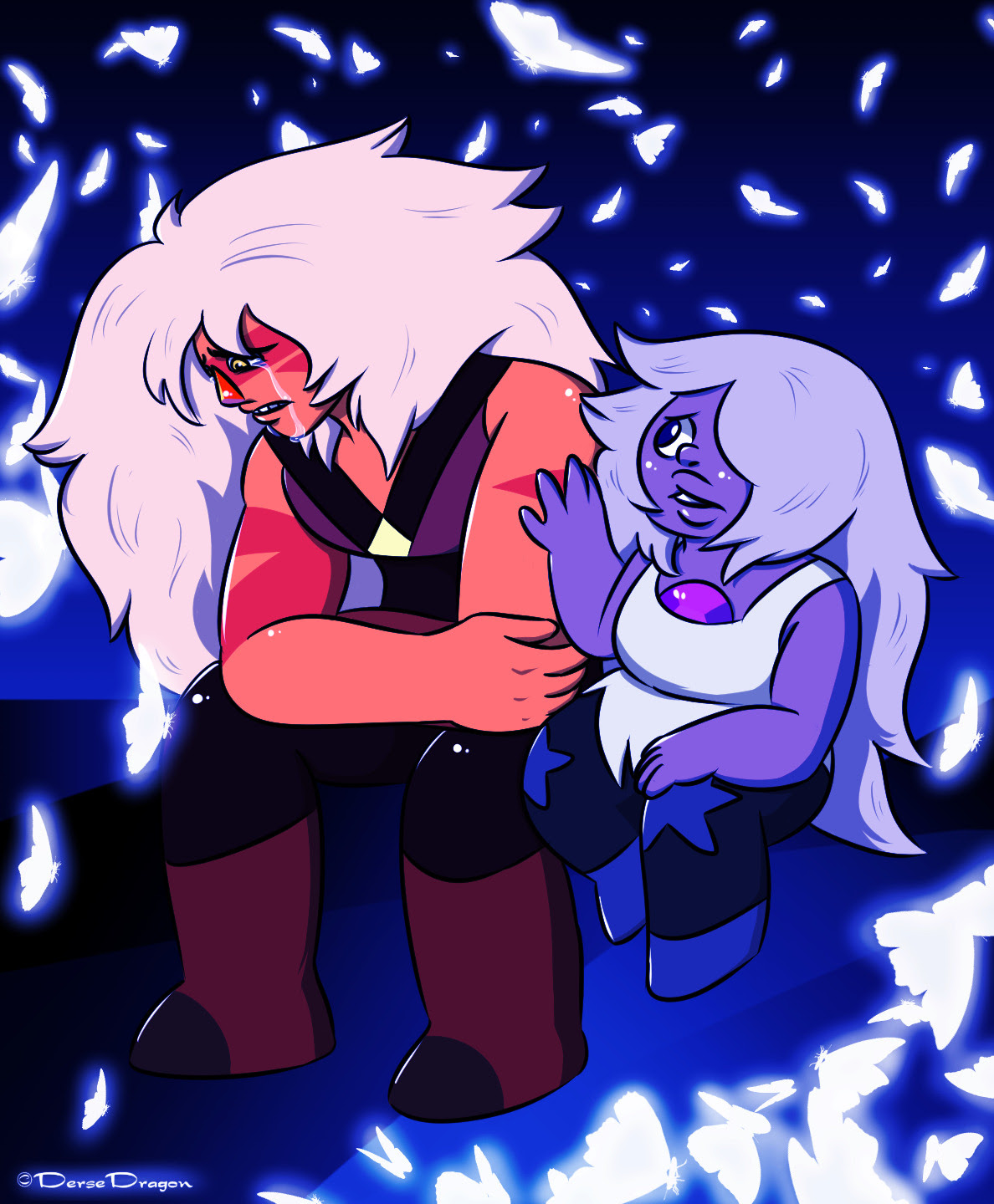 "Jasper: ""I could've save her if I was just stronger. I could've protected my diamond!"" Amethyst: ""You are strong, Jasper.. You're stronger than what you think you are."" Inspired by Mindful Education..."