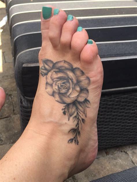 rose foot tattoo foot tattoo tattoos rose tattoo foot