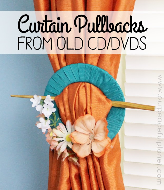 Curtain Pullbacks From Old DVDs or CDs