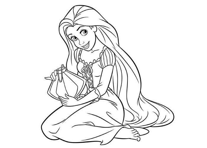 Coloriage Princesse Disney Raiponce Imprimer Ancenscp
