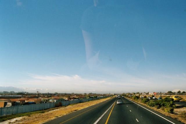 Busfahrt in Südafrika