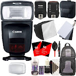 CANON Speedlite 470EX-AI Hot-Shoe Flash with Auto Intelligent Bounce Function + Top Flash Accessory Bundle