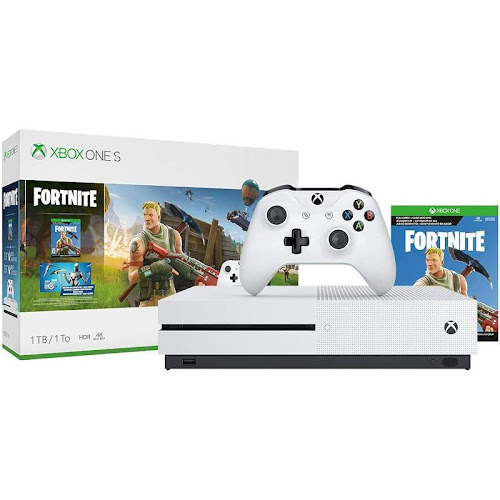 Microsoft Xbox One S Fortnite Bundle - 1 TB - Robot White