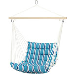 Best Choice Products Deluxe Padded Cotton Hammock Hanging Chair Indoor Outdoor Use - Blue