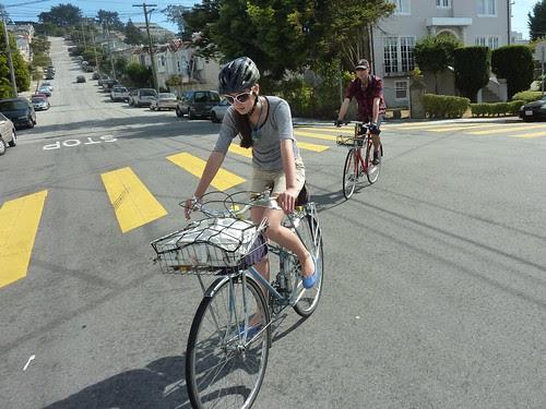 Vintage Basket Bike People
