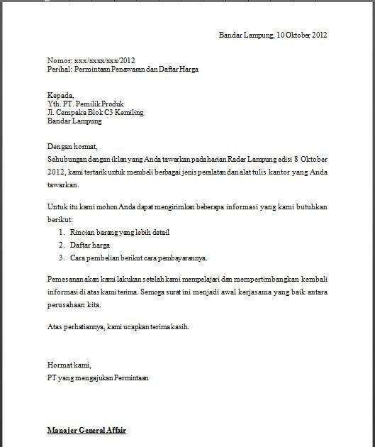 Contoh Proposal Penawaran Barang: Contoh Surat Penawaran Kerjasama Media Online