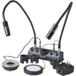 Omano OMLED-DPRL LED Illuminator with Dual Pipes, Ring and Stage Lights