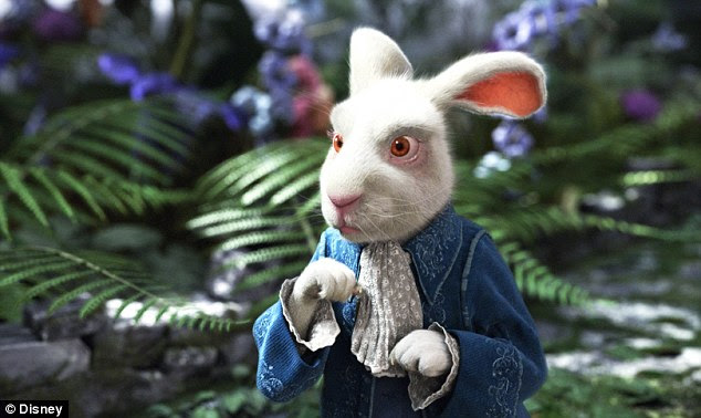 Image result for white rabbit alice in wonderland live