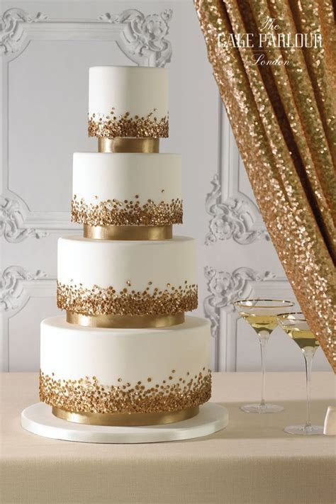 25  best ideas about Gold cake on Pinterest   Gold wedding