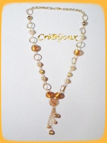 collana moda cristalli boemia topazio
