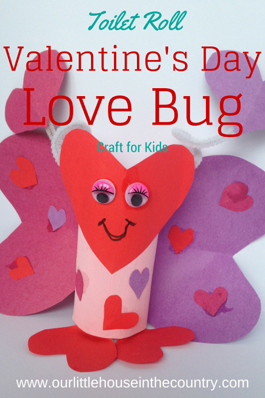 Lola the Toilet Roll Love Bug Butterfly Valentine's Craft