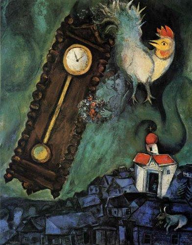 シャガール・「世界の朝」 プリキャンバス複製画・ ギャラリーラップ仕上げ(6号サイズ)