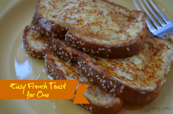 Easy French Toast for One Recipe