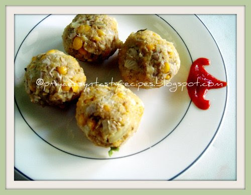 Steam cooked vazhaipoo balls