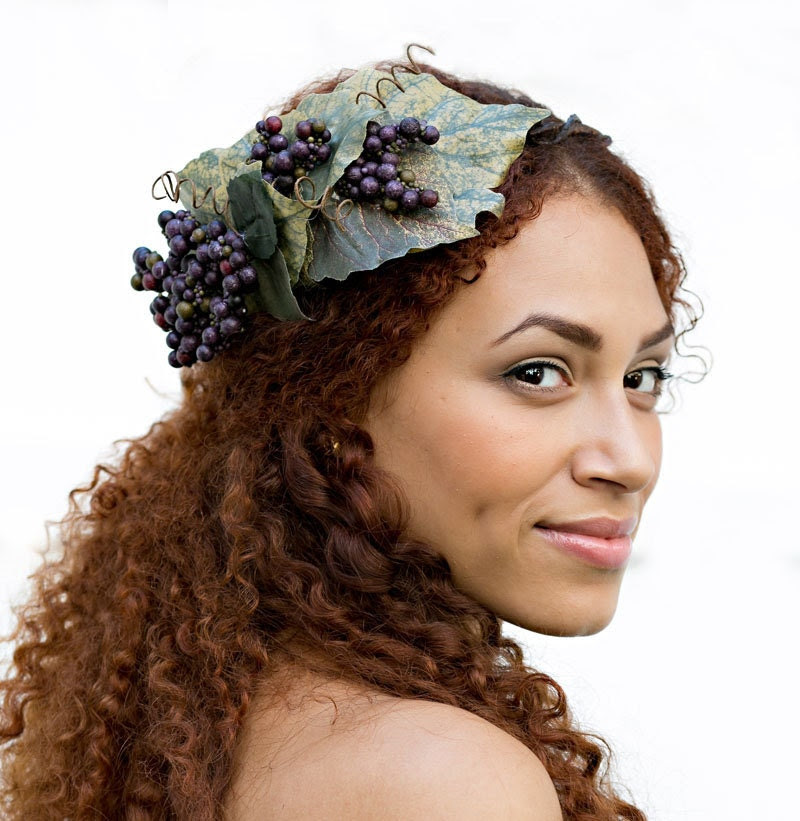 Wine Goddess Ethereal Nature Crown - neesiedesigns