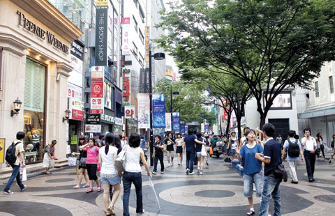 A street in Myeong-dong