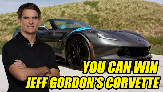 You Could Win Jeff Gordon's Personal Corvette & Up to $15,000 Cash