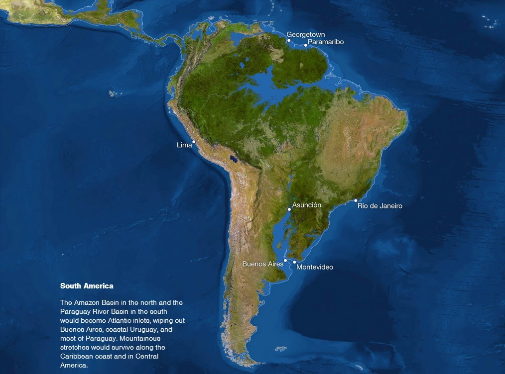 La Tierra sumergida sudamerica