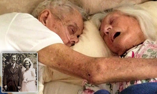 The dying embrace of husband and wife who were married for 75 years