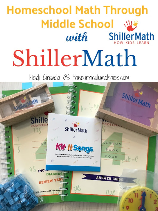 Homeschool Math Through Middle School: A ShillerMath Review - The Curriculum Choice