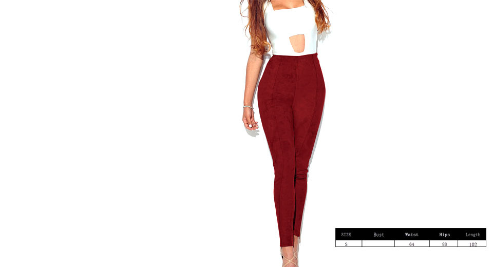 Womens Ultra Soft Slimming Stretchy Suede Leggings Pants (Size S)