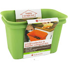 Full Circle Scrap Collector & Freezer Compost Bin, Green