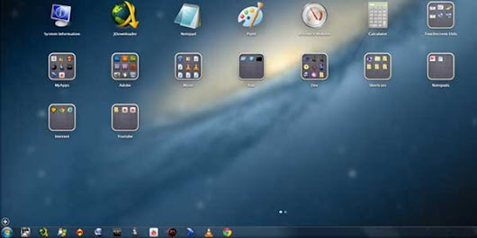 Apple iOS Style Desktop Launcher for Windows 7 and 8