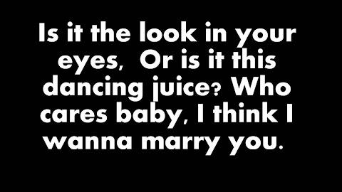 I Want To Marry You Bruno Mars Lyrics