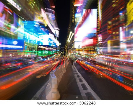 new york city time square at night. stock photo : The times square