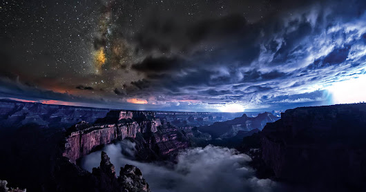 Watch the Grand Canyon turn into a sea of rolling clouds in this time lapse