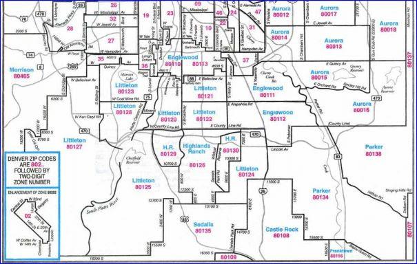Denver Co Zip Code Map Zip Codes Denver Colorado Map | World Map