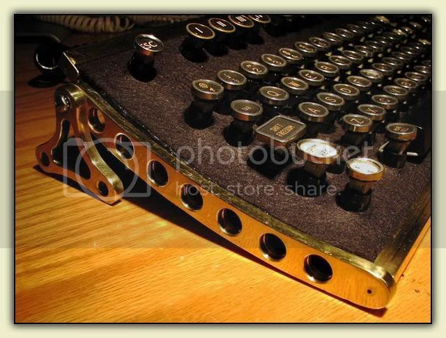 Steampunk Keyboard Close-Up