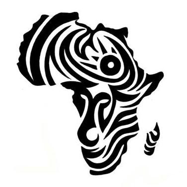 Tribal African Map Tattoo Design