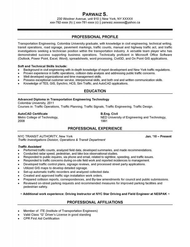 sample resume for freshers in civil engineering