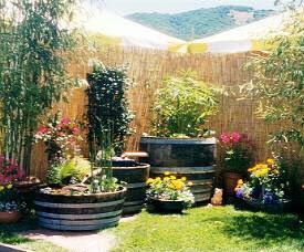 Garden Design Garden Design With Half Wine Barrels Planting With