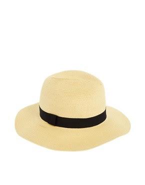 Image 2 of ASOS Straw Fedora Hat