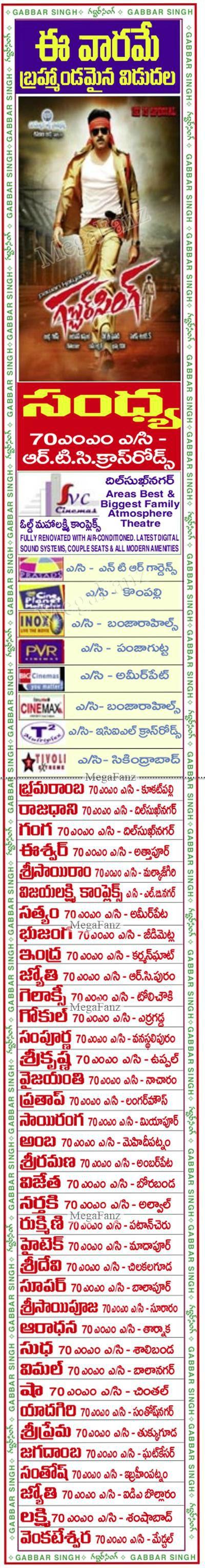 gabbar singh hyderabad theaters list