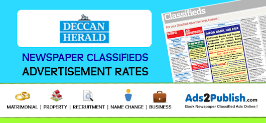 Deccan Herald Classified Ad Rates – Ads2Publish Blog