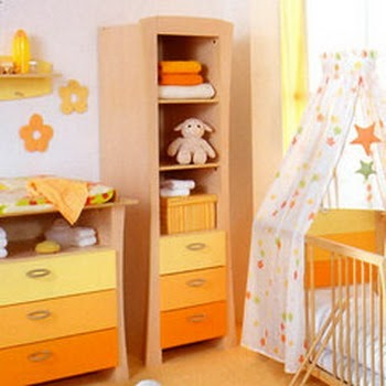 Decoraci n e ideas para mi hogar domitorios de beb en for Decoracion hogar naranja