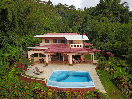 5 ACRES - 2 Bedroom Home with Pool, Creek, Vast Mountain and Valley View, Easy Access at 2,100 ft. - Costa Rica Real Estate