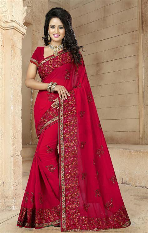 womens indian wedding black sari party clothing saree
